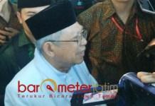 AJAK WARGA NU KEMBALI KE PKB: Cawapres Kiai Ma'ruf Amin usaimenghadiri konsolidasi kader PKB se-Jawa Timur di Surabaya, Sabtu (29/9). | Foto: Barometerjatim.com/NANTHA LINTANG