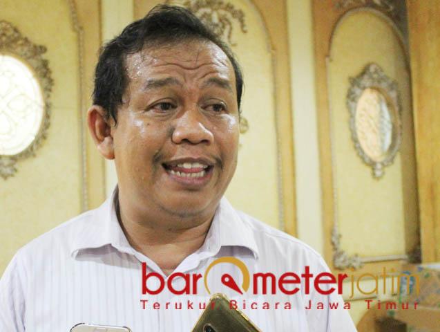 DARI JATIM ADPI DIMULAI: Agung Wahyudi, 30 persen alokasi pupuk bersubsisi secara nasional berada di Jawa Timur.   Foto: Barometerjatim.com/ROY HASIBUAN