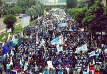 TOLAK PP 78: Tolak PP No 78 tentang Pengupahan karena hanya merugikan buruh. Sarbumusi minta pemerintah agar menghapus. | Foto: IST