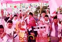 JKSN BANGKALAN: Khofifah saat deklarasi JKSN Bangkalan di Lapangan Desa Patereman, Kecamatan Modung, Selasa (22/11). | Foto: Barometerjatim.com/ROY HASIBUAN