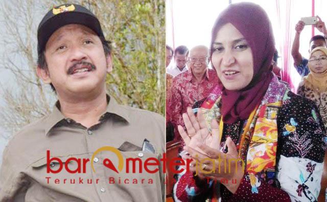 DISIAPKAN NASDEM: Ipong Muchlissoni (kiri) dan Faida, disiapkan Partai Nasdem untuk maju di Pilwali Surabaya 2010. | Foto: Barometerjatim.com/ROY HASIBUAN