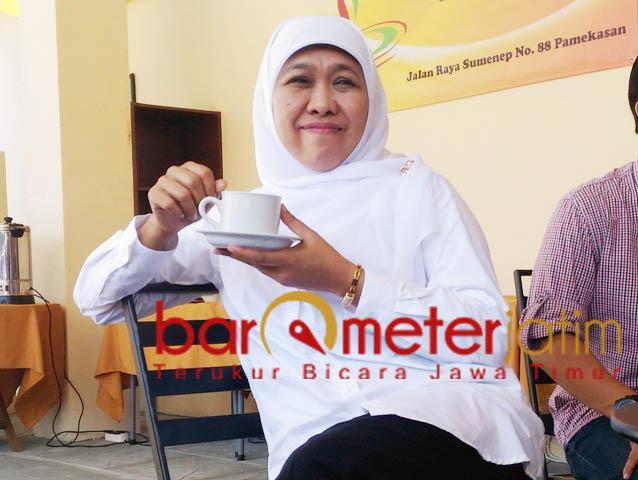 Khofifah, bakal wujudkan ide-ide spektakuler usai dilantik jadi gubernur Jatim. | Foto: Barometerjatim.com/roy hasibuan