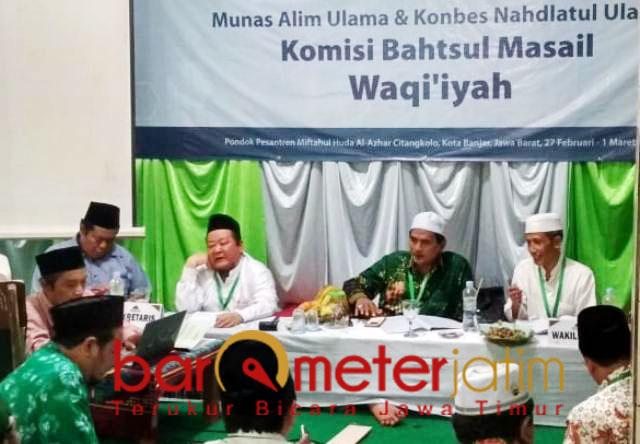 Komisi Bahtsul Masail Waqi'iyah, haram bisnis MLM.   Foto: Barometerjatim.com/syaiful kusnan
