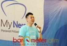 David Raditya saat launching aplikasi My Ners di Surabaya. | Foto: Barometerjatim.com/roy hasibuan