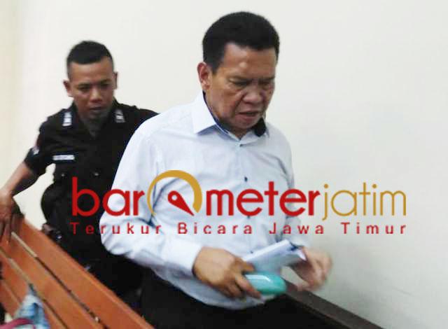 Nurul Dholam, divonis enam tahun penjara dalam perkara korupsi Jaspel.   Foto: Barometerjatim.com/abdillah hr