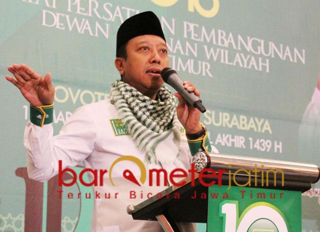Romahurmuziy saat menghadiri acara DPW PPP Jatim. | Foto: Barometerjatim.com/roy hasibuan