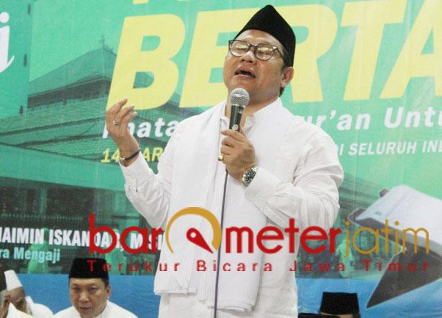 Cak Imin, paku doa di tiga tempat untuk menjaga persatuan dan kesatuan Indonesia. | Foto: Barometerjatim.com/roy hs