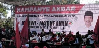 Ma'ruf Amin kampanye terbuka di Padalarang, Kabupaten Bandung Barat, Selasa (9/4/2019). | Foto: Ist