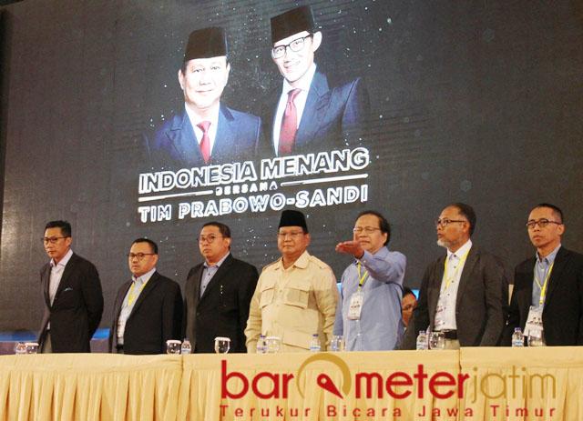 Rizal Ramli (tiga dari kanan), Prabowo bukan pemimpin yang suka bohong. | Foto: Barometerjatim.com/natha lintang