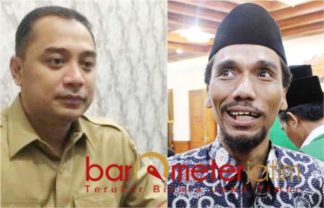 POTENSI DUET: Eri Cahyadi dan Muhibbin Zuhri, potensi duet di Pilwali Surabaya 2020.   Foto: Barometerjatim.com/ROY HS/IST