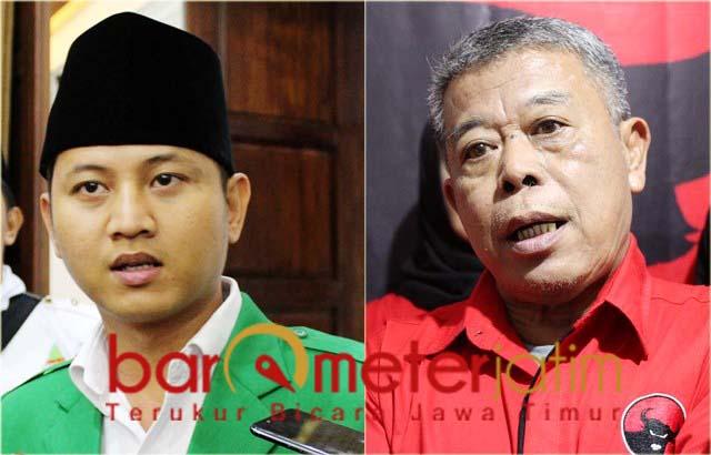 Kusnadi (kanan), PDIP restui Nur Arifin maju ketua Ansor Jatim.   Foto: Barometerjatim.com/roy hs