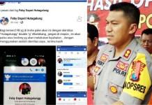 AKUN DIPALSU: Feby DP Hutagalung dan akun Facebook-nya yang dipalsu. | Foto: Barometerjatim.com/HAMIM ANWAR