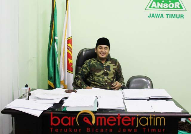 JELANG KONFERWIL ANSOR: Gus Abid, penuhi kriteria ketua definitif PW GP Ansor Jatim. | Foto: Barometerjatim.com/ROY HS