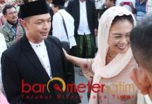 PELUANG BESAR: Gus Hans bersama Yenny Wahid. Potensial memenangi Pilwali Surabaya 2020. | Foto: Barometerjatim.com/ROY HS