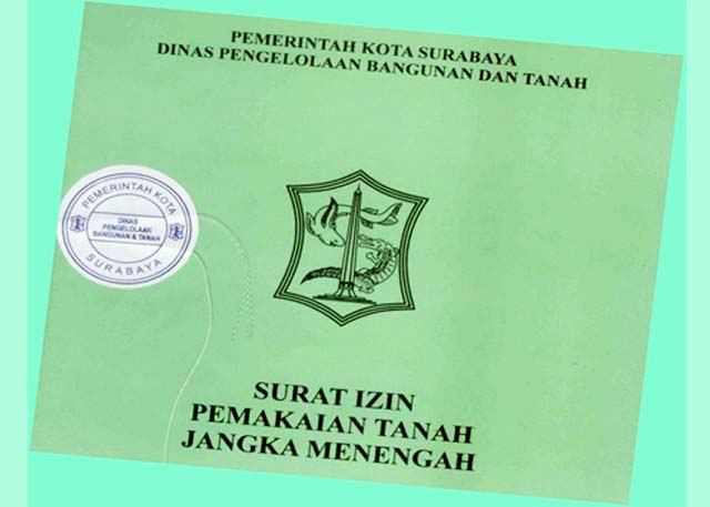 TAK BERUJUNG: Surat Izin pemakaian tanah jangka menengah atau dikenal dengan sebutan Surat Ijo. | Foto: IST