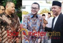 KANDIDAT PENANTANG: Whisnu Sakti Buana (foto kiri) dan kandidat penantang Gus Hans-Bayu Airlangga. | Foto: Barometerjatim.com/ROY HS