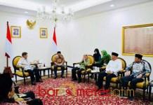 DITERIMA JK: Rombongan pengurus DMI Jatim diterima Jusuf Kalla di kantor Wapres| Foto: Barometerjatim.com/ROY HS