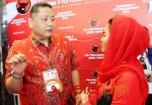 PILWALI SURABAYA: Whisnu bersama Puti, masih berpeluang diusung PDIP di Pilwali Surabaya?   Foto: Barometerjatim.com/ROY HS