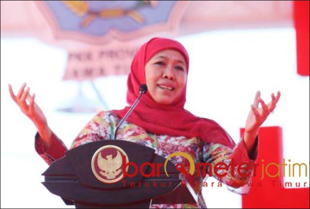 TERKENDALI: Khofifah, Jatim aman dan terkendali jelang pelantikan Jokowi-Ma'ruf. | Foto: Barometerjatim.com/ABDILLAH HR
