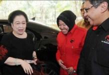JANGAN POCO POCO: Megawati, Risma dan Hasto. Wali kota Surabaya pasca Risma jangan yang poco poco. | Foto: IST
