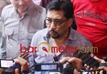 DUKUNG PERSEBAYA: Machfud Arifin, Persebaya harus tetap ber-home base di Surabaya. | Foto: Barometerjatim.com/ROY HS