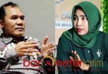 PILBUP SIDOARJO: Bambang Haryo dan Mimik Idayana, opsi Gerindra di Pilbup Sidoarjo. | Foto: Barometerjatim.com/IST