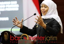 RAPOR MERAH: Khofifah, sindir OPD yang serapan anggarannya di bawah 40 persen. | Foto: Barometerjatim.com/ROY HS