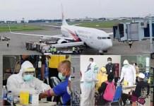 NEGATIF CORONA: 154 TKI dari Malaysia tiba di Juanda. Setelah di-rapid test hasilnya negatif Corona. | Foto: IST