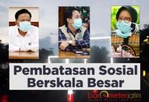 BEDA JURUS: Dari kiri Bupati Gresik Sambari, Plt Bupati Sidoarjo Nur Ahmad dan Wali Kota Surabaya Risma. | Foto: Barometerjatim.com/DOK