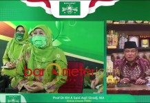KELUARGA NU: KH Said Aqil Siroj, halal bi halal virtual Muslimat NU. | Foto: Barometerjatim.com/ROY HS
