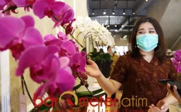 PESONA ANGGREK VON FLORIST: Yvonne Mustika Sutanto, buka outlet anggrek Von Florist di Surabaya. | Foto: Barometerjatim.com/ROY HS