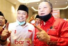 PDIP BERSATU: Eri Cahyadi dan Whisnu Sakti Buana, bersatu demi kemenangan di Pilwali Surabaya. | Foto: Barometerjatim.com/ROY HS