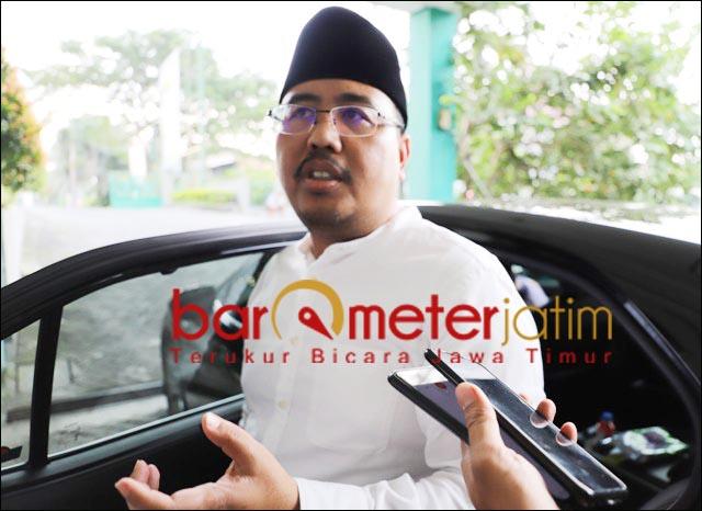 KAWAL DI PROVINSI: Anwar Sadad, ketokohan Syaikhona Kholil tak perlu didiskusikan lagi.   Foto: Barometerjatim.com/ROY HS
