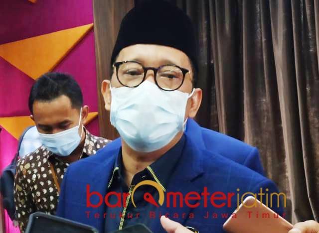 IMPOR BERAS: Hasan Aminuddin, baru isu saja harga gabah turun, apalagi jadi impor beras. | Foto: Barometerjatim.com/ROY HS