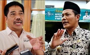 KRITIK KERAS: Suko Widodo (kiri) kritik keras Subandi soal jabatan camat-Kadis yang akan didominasi kader NU. | Foto: Barometerjatim.com/IST