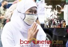 MINTA MAAF: Gubernur Khofifah, akhirnya minta maaf soal video ultahnya yang bikin heboh. | Foto: Barometerjatim.com/ROY HS
