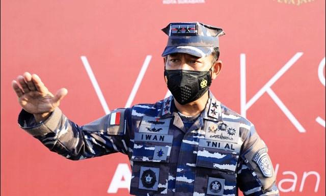 RS LAPANGAN: Laksamana Muda TNI Iwan Isnurwanto, TNI AL siapkan RS Lapangan Covid-19 di Surabaya. | Foto: Barometerjatim.com/IST