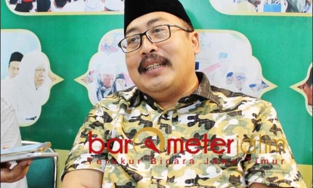 DUKUNG GUS YAHYA: Gus Fahrur, dukung Gus Yahya jadi ketua umum PBNU di Muktamar ke-34 NU. | Foto: Barometerjatim.com/ROY HS