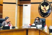 AUDIENSI: Sri Sajekti audiensi dengan Menkopolhukam, Mahfud MD terkait usulan Syaikhona Kholil pahlawan nasional. | Foto: IST