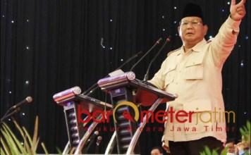 KUNCINYA DI JATIM: Ketum Gerindra Prabowo Subianto, berpeluang besar jadi Presiden RI di 2024. | Foto: Barometerjatim.com/ROY HS