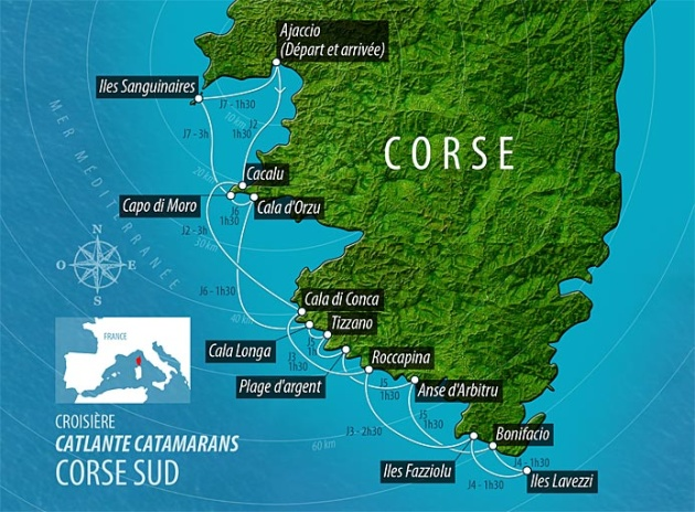 Barone Yachting France Itinerary Corsica Southwest Coast