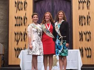 From left, Gold Award recipients Sarah Mundi, Kayla Borack, and Heather Carr, all seniors. Photo courtesy of Sue Mundi.