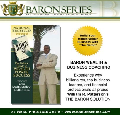 #1 Speaker and Wealth Coach - William R. Patterson