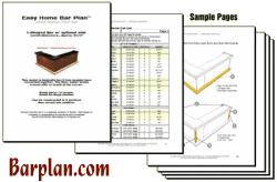 Easy Home Bar Plans Sample Plans Set