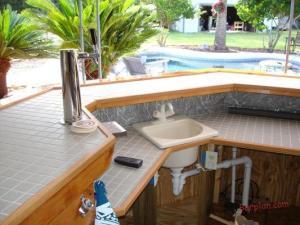 45 degree patio wet bar