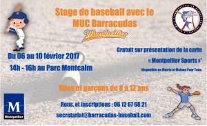 Flyer stage février baseball Montpellier 2017