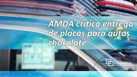 AMDA critica entrega de placas para autos chocolate