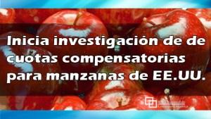 Inicia investigación de de cuotas compensatorias para manzanas de EE.UU.