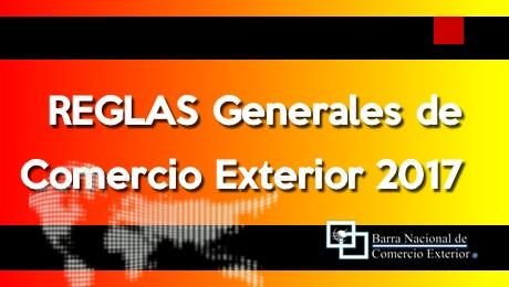 Se publican REGLAS generales de Comercio Exterior 2017