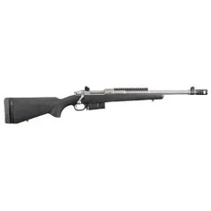 "RUGER SCOUT RIFLE 450BUSH 16"" MB SS BLK SYNTHETIC"